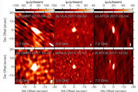 Extended Data Figure 1 | GW170817 radio image cut-outs.